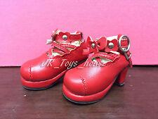 1/6 BJD Red Lolita shoes A fits Yo SD AI Dz BB Super Dollfie SALE