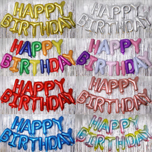 Happy Birthday Balloon Banners Balloon Bunting Party Decoration Self Inflating