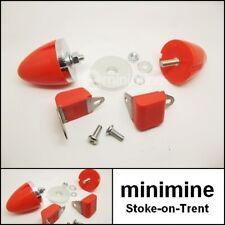Classic Mini Polyflex UK Front Suspension Bump Stop & Rebound Buffer Kit ORANGE