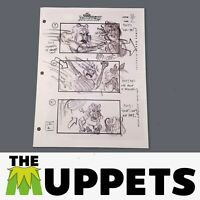 THE MUPPETS - Production Used Storyboard - Miss Piggy with Karate Chop 92-7