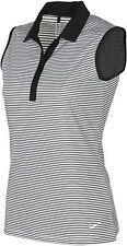Nike Golf Womens Women's Dry-Fit Stripe Polo Shirt Black White 725600 010