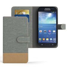 Tasche für Samsung Galaxy S4 Mini Jeans Cover Handy Schutz Hülle Hellgrau