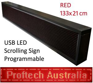 Proftech Programmable USB LED Message Scrolling Digital Display Sign 130x20 cm R