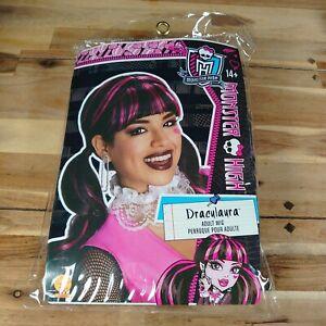 Ladies Draculaura Wig Monster High Halloween Fancy Dress Adult Costume age 14+