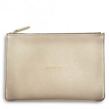 Katie Loxton - Good As Gold Perfect Pouch - Metallic Gold Clutch Bag & Gift Bag