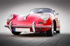 Leinwand Bild Porsche Oldtimer 356 C Rot Chrom Design Klassiker 911 Kult Auto GT