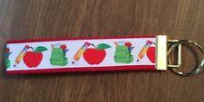 School Teacher wristlet key fob holder key chain zipper pull