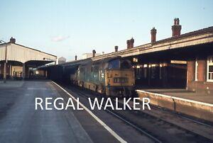 ORIGINAL 35MM SLIDE BRITISH RAIL BR WESTERN - CLASS 52 AT WESTBURY C1970S