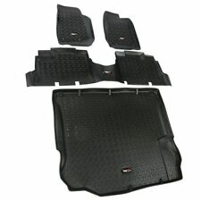 Rugged Ridge 12988.04 All Terrain Floor Liners Kit Black Front Rear and Cargo