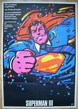 SUPERMAN III, design by Waldemar Swierzy, Original Polish poster from 1985, B1