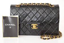 Chanel black quilted leather signature CC logo shoulder handbag purse $5800