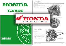 Servicio De Honda CX500 Manual de taller reparación tienda CX 500 Custom & Deluxe 1978-1983