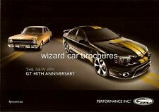 2007 FORD FPV GT 40th ANNIVERSARY A4 CAR SALES BROCHURE