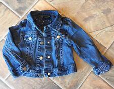 Toddler girls denim jean jacket coat size 18 Months Genuine Kids OshKosh