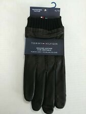 NEW Tommy Hilfiger Genuine Leather Gloves Touch Screen Black Size XL X-Large