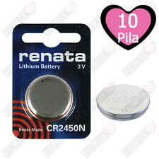 Batterie RENATA CR2450N Litio 3V Batteria A Bottone CR 2450N, 10 Pz