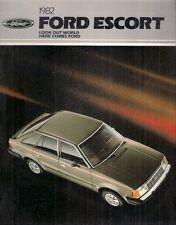Ford Escort 1982 USA Market Sales Brochure L GL GLX GT