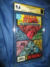 TALES OF THE TEEN TITANS #43 CGC 9.6 SS Signed by George Perez ~Raven/Cyborg +
