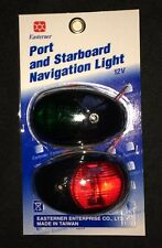 PORT STARBOARD NAV LIGHT PAIR BLACK SURROUND NAVIGATION BOAT RIB YACHT