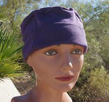 ADULT 100% Cotton DEEP PURPLE sleeping night Cap mens women UNISEX nightcap hat