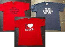 GILDAN pas un matin personne Love Sleep FRUITS OF THE LOOM retourner au lit Top XL