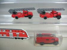 K956-0,5# 3x Wiking HO Opel Blitz Feuerwehr FW, 861, 862, TOP+1xOVP