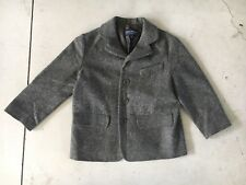 Rare VTG Kids I Pinco Pallino New Virgin Wool Grey Blazer Jacket Coat Girls/Boys