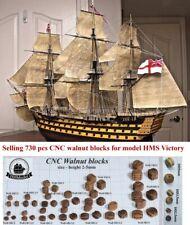 Heller HMS Victory 1:100 - selling 730 pcs CNC Walnut blocks for model