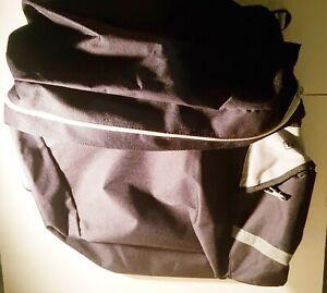 2 Fahrradtaschen TCM vorne und hinten Schwarz Rahmentasche Doppeltasche Tasche
