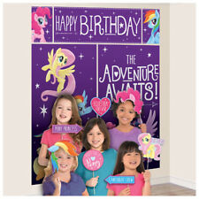 MY LITTLE PONY Friendship Adventures SCENE SETTER w/ PROPS ~ Birthday Supplies