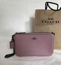 NWT Coach Nolita 22 Pebble Leather 13947 Zip Top Wristlet Handbag Dusty Rose 175