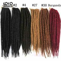 Jumbo Long Box Braids Havana Mambo Twist Crochet Braiding 24inch Hair Extensions