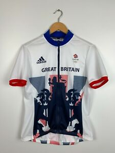 Women's Great Britain Team 2016 Olympics Adidas Cycling Jersey Size L (16-18)