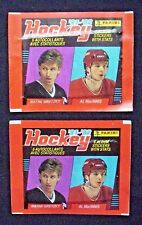 "2-1991/92 Panini Hockey Sticker Packs ""Sealed"" Front w/Wayne Gretzky/Al Macinnis"