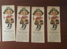 Ephemera Cowgirl Antique Advertising Bookmark M. Schulz Co Player Piano Chicago