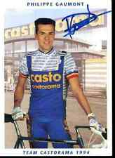 PHILIPPE GAUMONT 94 Signed Autographe signé Signature Olympic champion Medal