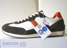 Geox scarpe uomo U Vinto D Brown/Orange/White sneakers Pelle/Textile n.42 €110