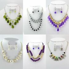 400 PC (200 Sets)WHOLESALE LOT FASHION JEWELRY NECKLACE EARRINGS