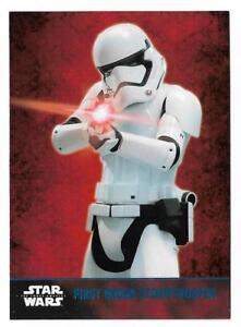 2015 Topps Star Wars The Force Awakens Series 1 BLUE Foil #7 Stoormtrooper