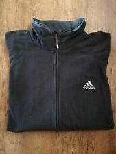Adidas Fleece Jacket Men's Sports Black New