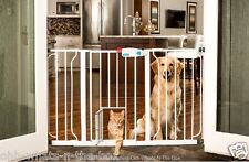 Pet Baby Gate Safety Security Fence Dog Cat Child XL Extra Wide Walk Thru Door