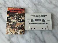 Black Sabbath Greatest Hits CASSETTE Tape NEMS 3206 Ozzy Osbourne Paranoid RARE!