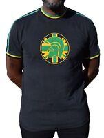 TROJAN RECORDS BLACK JAMAICA TWIN STRIPE TOP MOD CLOTHING SKINHEAD SOUL SKA