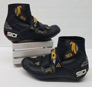 SIDI Winter Mountain Bike Cycling Shoes Women's Size 41 (US 7.5) Black & Yellow