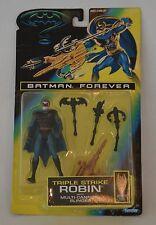 "1995 BATMAN FOREVER ""TRIPLE STRIKE ROBIN"" MOVIE ACTION FIGURE MIP SEALED KENNER"