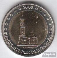 BRD (BR.Deutschland) Jägernr: 534 2008 F Stgl./unzirkuliert 2008 2 Euro Hamburge