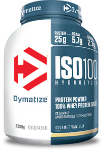 DYMATIZE Iso100 Hydrolyzed (Whey Protein Isolate) 2200g FREE SHIPPING