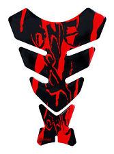 Tankpad 3D Monster Neon Rot 501781 universell passender Motorrad Tankschutz