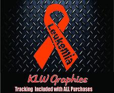 Leukemia Ribbon * Vinyl Decal Sticker Cancer family car window truck suv 1500