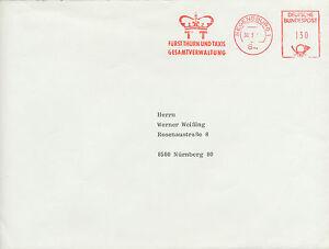 """BRD 1985 Freistempel REGENSBURG """"TT / FÜRST THURN UND TAXIS / GESAMTVERWALTUNG"""""""